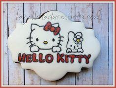 Galleta Hello kitty pintada a mano