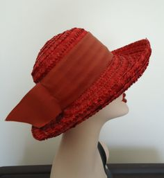 Vintage Day-Tonn New York Toronto Red Straw Wide Brimmed Hat on Etsy, $53.94 CAD