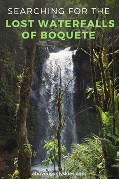 High up in the mountainous jungle of Chiriqui province, Panama, a trio of lost waterfalls await discovery... #Boquete #BoqueteTravel #PanamaTravel #PanamaHiking #BoqueteWaterfalls