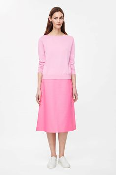 Textured A-line skirt Cos pink midi