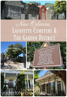 Visiting the Garden District and Lafayette Cemetery is a highlight of New Orleans. We toured with our three young children and here's our tips for a family-friendly day out. New Orleans, Louisiana, USA #SouthAmericaTravelNewOrleans