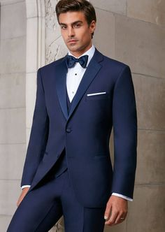 Navy Sebastian Two Button Notch, Fit: Trim, Fabric: Super 120s Wool, Lapel: Notch, Buttons: 2, Sizes available: 34S - 54L