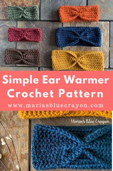 Simple Crochet Ear Warmer Free Pattern for Beginners – Maria's Blue Crayon Simple Crochet Ear Warmer Free Pattern for Beginners – Maria's Blue Crayon,Crochet Hats Get the free pattern and video tutorial to make. Crochet Ear Warmer Pattern, Crochet Headband Pattern, Crochet Beanie, Crochet Ear Warmers, Blanket Crochet, Quick Crochet, Free Crochet, Knit Crochet, Simple Crochet