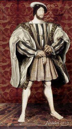 reconstitution du costume dans lequel le peintre Jean Clouet a immortalisé le roi François Ier