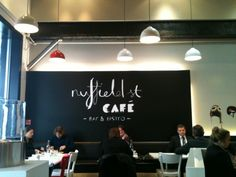 Nuffield Street Cafe -- love that font!