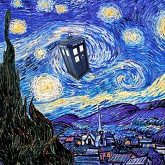 A Starry Night Van Gogh Doctor Who Tardis Products