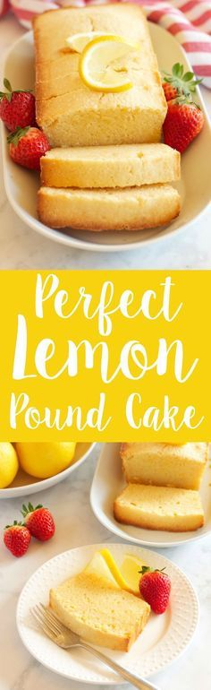 This Perfect Lemon Pound Cake is the ultimate no-fail Spring dessert recipe that's moist and tender and made with fresh lemons!