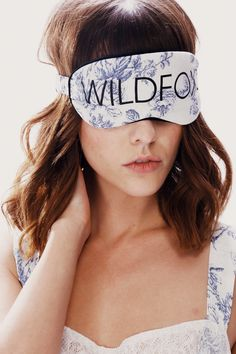 Wildfox Couture English Toile Eye Mask in Multi I Feel Pretty, Make Me Up, Beauty Bar, Sleep Mask, Wildfox, Thrifting, Fashion Accessories, Shop My, Fashion Outfits