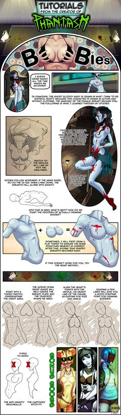 Boobs Tutorial via Phantasm Comic by PhantasmComic.deviantart.com on @deviantART