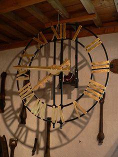 Church tower clock - from Tellin's Musée de la cloche et du carillon