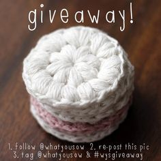 Cotton Makeup Remover pads giveaway over on instagram @What You Sow