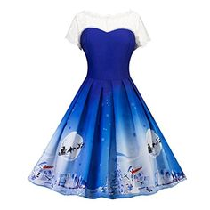 Women Dress, Gillberry Women's Vintage Christmas O-Neck P... https://www.amazon.com/dp/B076PZ66NV/ref=cm_sw_r_pi_dp_x_xamfAbV0J4PN9