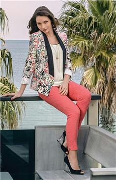Coralina jacket with brocade 7/8 pants, new for Summer from Postie Fashions