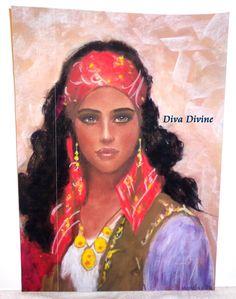 Décoration Vintage Bohème Portrait   AMALIA  par DivaDivinePastel