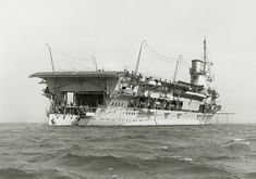 Courageous-class battlecruisers built for the Royal Navy during the First World War Naval History, Us History, Military History, Royal Navy Aircraft Carriers, Navy Carriers, Hms Furious, British Aircraft Carrier, Capital Ship, Abandoned Ships