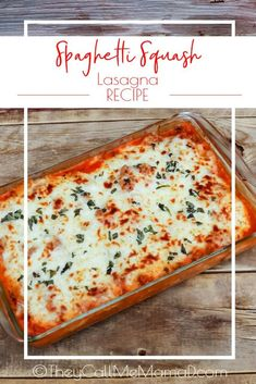 This Spaghetti Squash Lasagna is made with just a few simple ingredients and give you a gluten free, vegetarian, low carb, easy main dish! Low Carb Recipes, Vegetarian Recipes, Healthy Recipes, Healthy Food, Pasta Dishes, Food Dishes, Main Dishes, Food Food, Best Italian Recipes