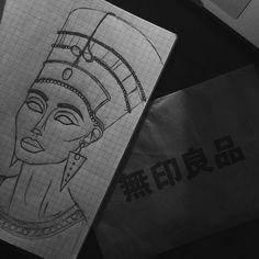 | say hello to Nefertiti hunty. #design #drawing #art #sketch #nefertiti #illustration #illustrate #illustrators by affzdn