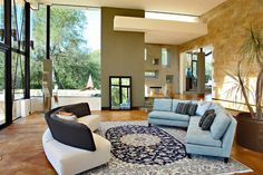 Living Room (via iheart-pictures) Simple Living Room, Home And Living, Home Design, Interior Design, Floor To Ceiling Windows, Huge Windows, Tall Ceilings, My Escape, Luxury Living