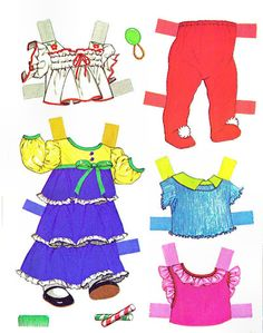 baby thataway paper doll outfits 1975