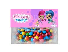 Shimmer and Shine  6.5x 2.5   Treat Bag Party by SusanLDesigns