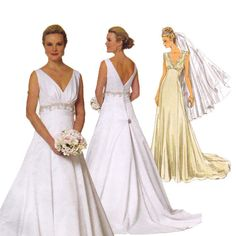 Wedding Dress Sewing Pattern - Butterick 5462 - Bridal Gown Pattern - Uncut, Factory Folded - Handmade Wedding