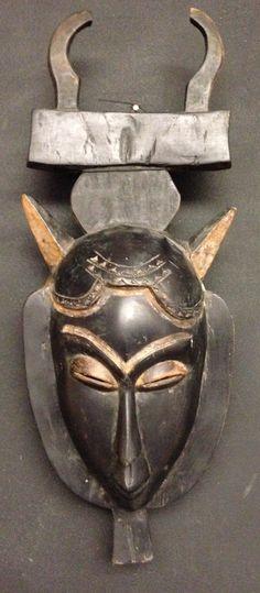 African Ivory Cast Yaure Mask by WorldofBacara on Etsy $150.00