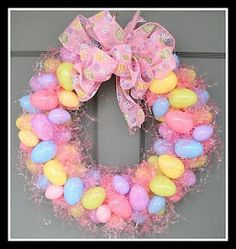So trinity and i made two of these wreaths.  They were super easy and totoally cute.