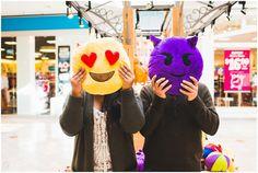New Jersey Wedding Photographer, Woodbridge Center engagement photos, emojis