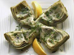 Sous Vide ~ Artichokes with lemon and garlic