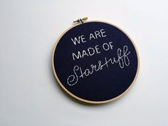 We Are Made of Starstuff // Carl Sagan Quote // 6 by threadhoney Carl Sagan, Cross Stitching, Coin Purse, Crafty, Embroidery, Cosmic, Handmade Gifts, Quotes, Condo