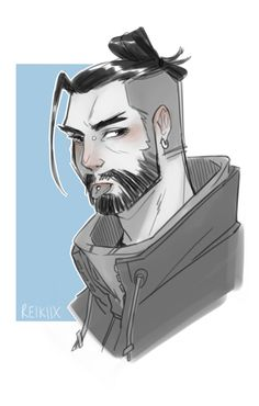 DON'T STOP ME NOW BY QUEEN PLAYING IN THE BG/// Shimada Brothers, Genji And Hanzo, Cool Artwork, Amazing Artwork, Overwatch Hanzo, Hanzo Shimada, Overwatch Drawings, Multimedia Artist, Cool Pins