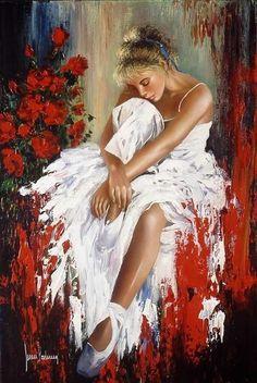 drawings and cool art - kate zambrano Art Ballet, Ballerina Painting, Woman Painting, Figure Painting, Painting & Drawing, Ballerina Kunst, Spanish Painters, Dance Art, Beautiful Paintings