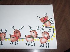 This would be a cute card...each of us a reindeer...Reindeer Cards with thumbprints