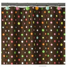 Polka Dot Shower Curtain If a polka dot shower curtain is what you are looking for, then you will find some very cute ones on this page. The polka dots are a fun design element that is used on lots of products but is especially cute on shower curta
