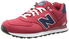 New Balance Men's ML574 Pique Polo Pack Classic Running Shoe, Red, 8.5 D US New…