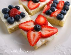4th of July Cookie Squares