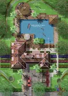 Best landscaping garden design drawing ideas - New ideas Plans Architecture, Landscape Architecture Drawing, Architecture Sketchbook, Landscape Design Plans, Site Plan Design, Home Design Plans, Resort Plan, Tree House Plans, Villa Design