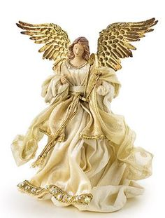 Add a timeless treasure to your elegant Christmas tree with this beautiful Gold Angel Tree Topper from Balsam Hill. Xmas Tree Toppers, Diy Christmas Tree Topper, Diy Tree Topper, Elegant Christmas Trees, Ghost Of Christmas Past, Angel Christmas Tree Topper, Christmas Nativity, Christmas Angels, Christmas Themes