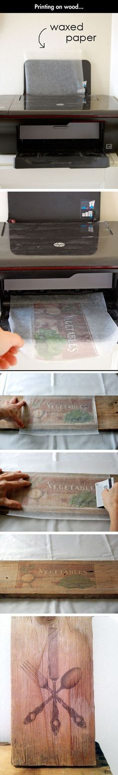 42 Craft Project Ideas That are Easy to Make and Sell - Big DIY IDeas Printed image on wood using waxed paper art diy wood projects projects diy projects for beginners projects ideas projects plans Wood Crafts, Fun Crafts, Diy And Crafts, Arts And Crafts, Paper Crafts, Paper Art, Decor Crafts, Crafts To Make And Sell Unique, Easy Gifts To Make
