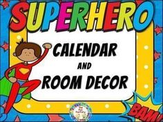 Everything you need to make your room colorful and inviting is included in this superhero themed calendar and room dcor set. Student helper cards, birthday cards, name tags and desk name plates are all editable. Just click where it says text and type in
