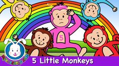 Five Little Monkeys Jumping on the Bed | Nursery Rhymes