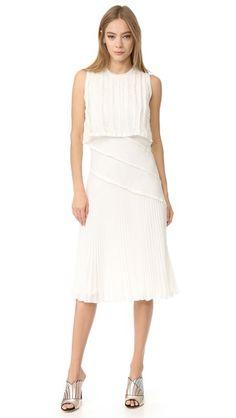 JASON WU Pleated Sleeveless Dress. #jasonwu #cloth #dress #top #shirt #sweater #skirt #beachwear #activewear