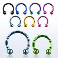 Aro barbell circular de 1,2 mm de grosor con bola de 3 mm. Varios diámetros. Ideal para uso en tu piercing de ceja o en tu piercing de labio, 3.57