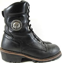Harley Davidson Women Biker Boots Size 7 Style 98004 Vibram Soles. GAG 21 #HarleyDavidson #BikerBoots