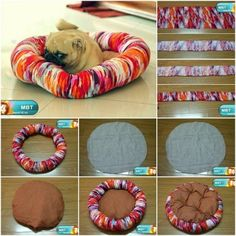 How to make Sew Pet Bed step by step DIY tutorial instructions.