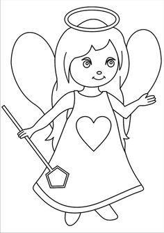 omalovánka anděl Free Coloring Pages, Coloring For Kids, Coloring Sheets, Coloring Books, Mandala, Picture Story, Doll Patterns, Smurfs, Diy And Crafts