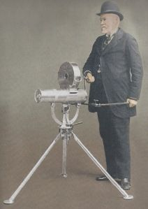 Richard Gatling, designer of the Gatling gun (1862), which was a forerunner to the modern machine gun. Known for its use by Union forces during the American Civil War.