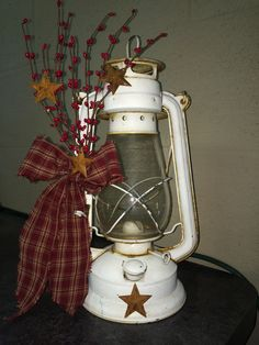 Primitive Panes. Primitive Decor. Old Antique Oil Lantern.  Check out our Facebook page - Primitive Panes for all our products.