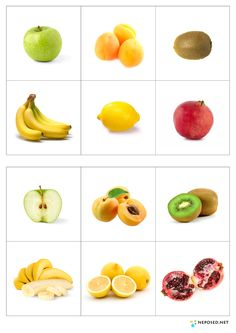 Laminate page, cut out fruits, ask children to match. Montessori Activities, Preschool Worksheets, Healthy Prepared Meals, Healthy Recipes, Fruit And Veg, Fruits And Vegetables, Best Weight Loss Foods, Kids Education, Health And Nutrition