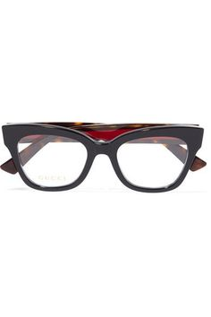 2fecbfca82 Gucci - Cat-eye Embellished Acetate Optical Glasses - Black